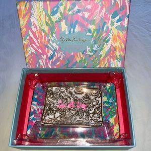NIB Lilly Pulitzer Sparking Sands Trinket Tray Set